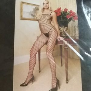 Leg Avenue Seamless Industrial Net Bodysuit NEW